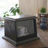 木製 ガラスショーケース/ディスプレイケース 小 アンティーク品