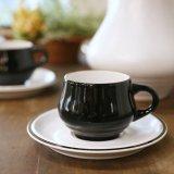 ノリタケ FOLKSTONE GENUINE コーヒーカップ&ソーサー ブラック&ホワイト 未使用品(E3536)