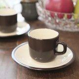 MIKASA ミカサ Terra Stone コーヒーカップ&ソーサー VANILLA E1955 未使用品(C3590)