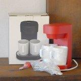 プラスマイナスゼロ コーヒーメーカー 2カップ XKC-V110 赤 未使用品(エ613)