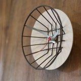 籠時計 小さな掛け時計/ウォールクロック アイボリー カスタムメイド