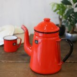 dw デコラウェア ホーローポット Brooke Bond Tea 赤 未使用品 箱付き(サ2443)