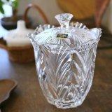 ノリタケ Crystal Treasury 蓋付きガラス瓶 キャニスター 未使用品 箱付き(カ3297)