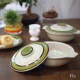 Sango 三郷陶器 グラタン皿/キャニスター Country Song グリーンライン 未使用品(や3748)