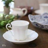 ノリタケ スタジオコレクション コーヒーカップ&ソーサー 白 未使用品(ほ3824)