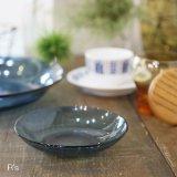 フランス VERECO ベレコ ガラスソーサー/小皿 ブルー 未使用品