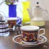 NARUMI 鳴海製陶 コーヒーカップ&ソーサー 花柄 未使用品(み3958)