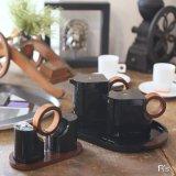 ピエール・カルダン テーブルウェア カスターセット4 調味料入れ/ソルト&ペッパー入れ 黒 未使用品 箱付き
