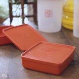 タッパーウェア 冷蔵ケース/角型保存容器 小 赤 未使用品