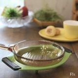 NARUMI 鳴海製陶 レトロ キャセロールスタンド 鍋敷き グリーン 未使用品