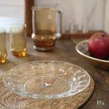 フランス arcoroc アルコロック ガラスプレート 皿 未使用品(F3む4 199)