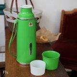 孔雀印 ピーコック魔法瓶 保温水筒 レトロ バキュームボトル グリーン 未使用品(t4483)