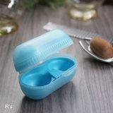 タッパーウェア ツインエッグケース 卵ケース 2個用 ブルー 未使用品(ナ5055)