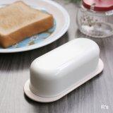 タッパーウェア 楕円 バターケース 未使用品 袋入り(O5065)