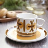 Artistic Seito レトロ カップ&ソーサー ストーンウェア 未使用品(つ5088)