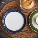 Sango 三郷陶器 16cmプレート Country Song 青×茶 未使用品(FF20GG16 5208)