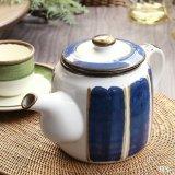 Sango 三郷陶器 ティー・コーヒーポット Country Song 青×茶 未使用品(EE5206)