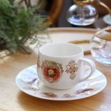 SEYEI セーエー陶器 NEWBORN Opal China カップ&ソーサー 白薔薇 未使用品(ひ5349)