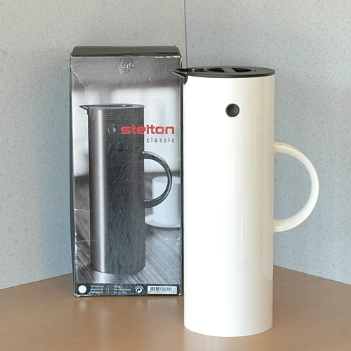 画像1: デンマーク ステルトン stelton classic 魔法瓶 1L 未使用品 箱付き(ん368)