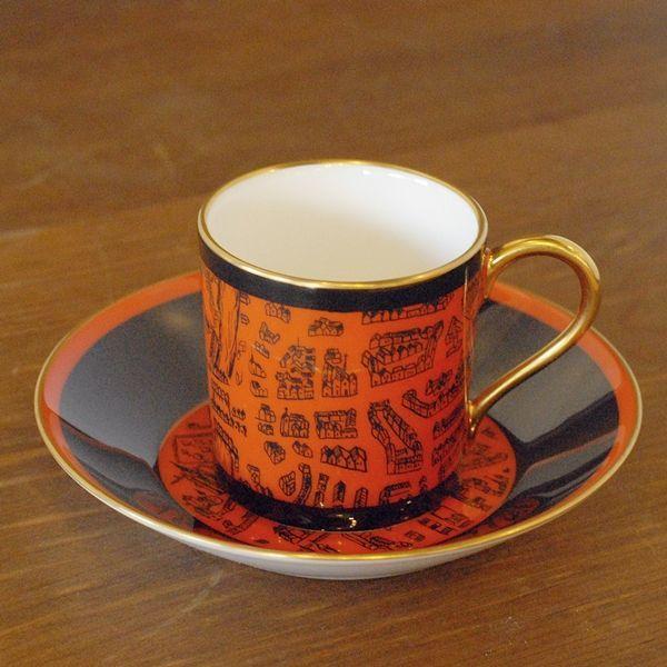 画像2: OKURA 大倉陶園 ART CHINA デミタスカップ&ソーサー マーチ 未使用品(フ661)
