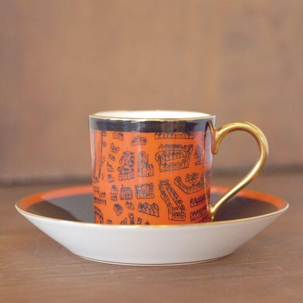 画像1: OKURA 大倉陶園 ART CHINA デミタスカップ&ソーサー マーチ 未使用品(フ661)