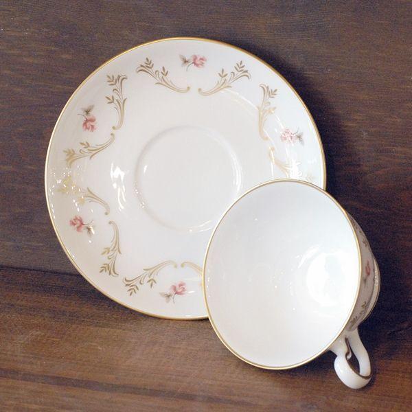 画像3: OKURA 大倉陶園 カップ&ソーサー 小花柄 ハンドデコレイト 未使用品(フ678)
