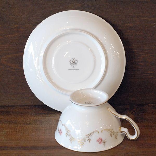 画像4: OKURA 大倉陶園 カップ&ソーサー 小花柄 ハンドデコレイト 未使用品(フ678)