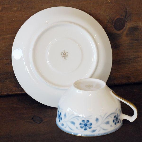 画像4: OKURA 大倉陶園 カップ&ソーサー ブルー小花柄 未使用品(フ681)