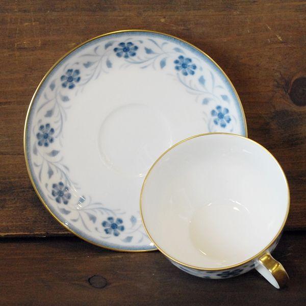 画像3: OKURA 大倉陶園 カップ&ソーサー ブルー小花柄 未使用品(フ681)