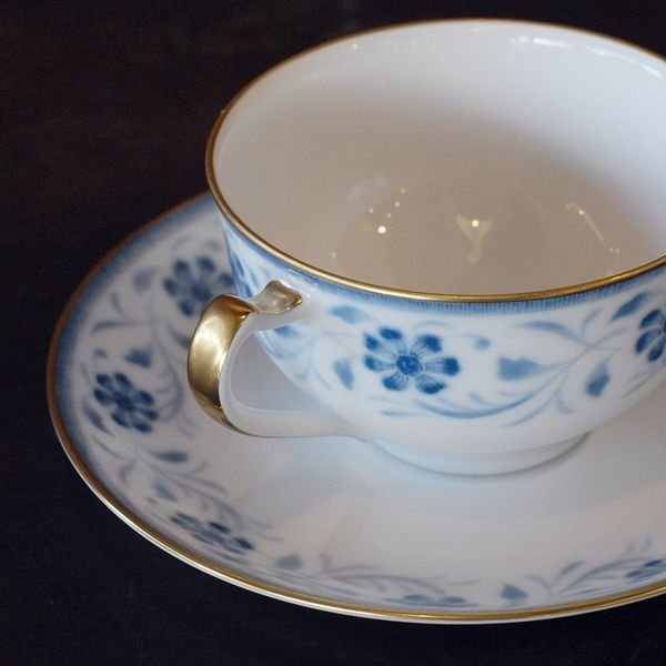 画像5: OKURA 大倉陶園 カップ&ソーサー ブルー小花柄 未使用品(フ681)