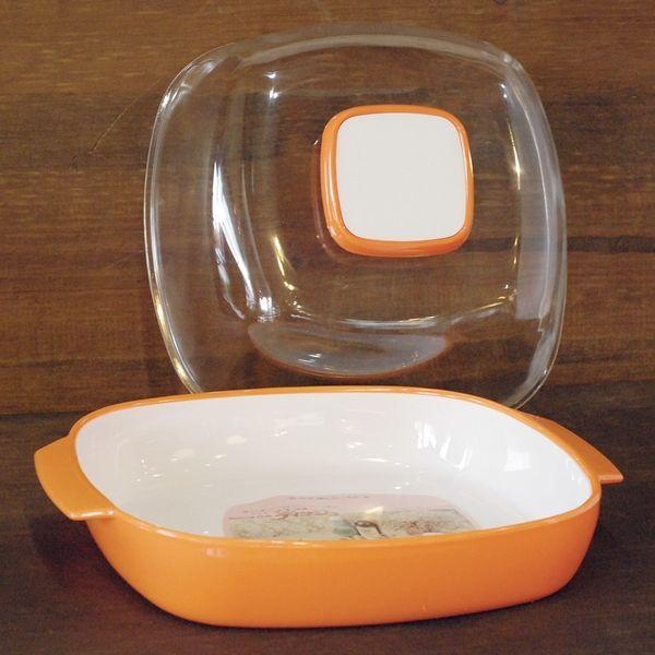 画像2: Y・K印ヨシカワ マスコットディッシュ大/プラスチックケース No.244 オレンジ デッドストック品