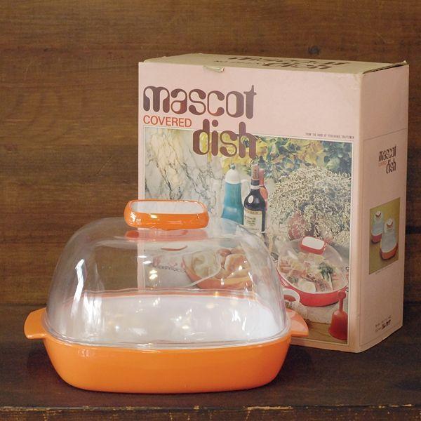 画像1: Y・K印ヨシカワ マスコットディッシュ大/プラスチックケース No.244 オレンジ デッドストック品