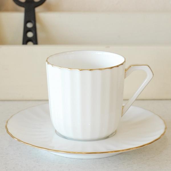 画像2: ノリタケ ダイヤモンドコレクション コーヒーカップ&ソーサー 未使用品(フ4く4 977)