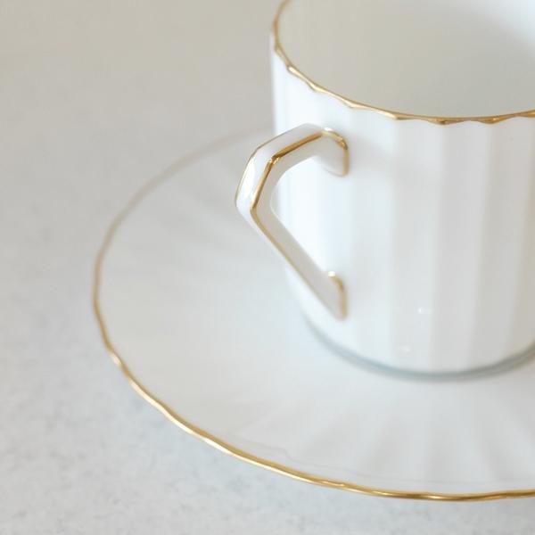 画像1: ノリタケ ダイヤモンドコレクション コーヒーカップ&ソーサー 未使用品(フ4く4 977)