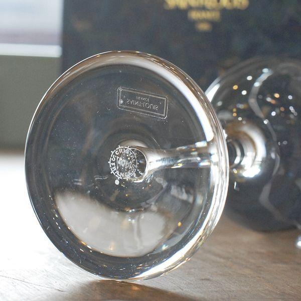 画像5: フランス SAINT LOUIS サンルイ ペアワイングラス 箱付き 未使用品(箱10 998)