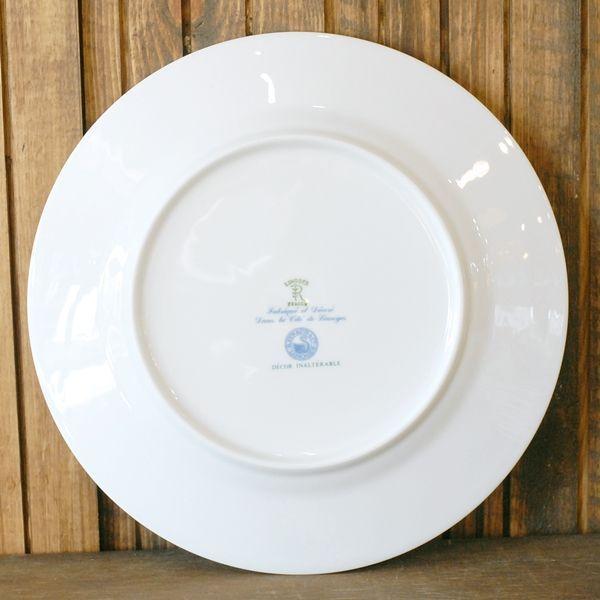 画像4: フランス RAYNAUD レイノー リモージュ プレート 皿 濃紺×金ライン 未使用品(こ1342)