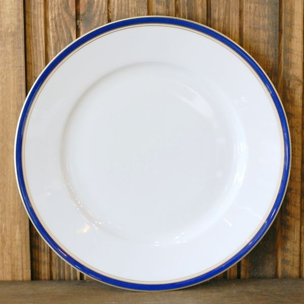 画像3: フランス RAYNAUD レイノー リモージュ プレート 皿 濃紺×金ライン 未使用品(こ1342)
