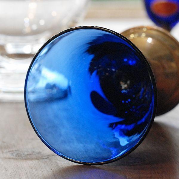 画像4: イタリア ムラーノ ベネチアングラス 青 未使用品(ホ1507)