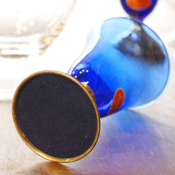 画像5: イタリア ムラーノ ベネチアングラス 青 未使用品(ホ1507)