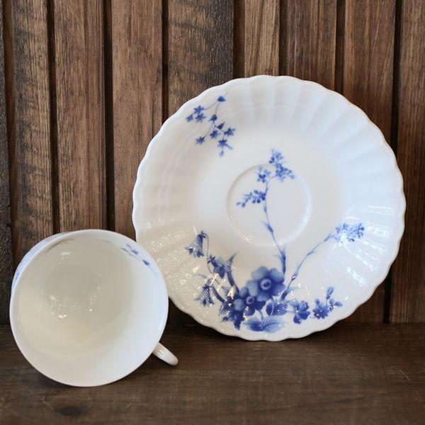 画像4: ノリタケ studio collection スタジオコレクション カップ&ソーサー 青い花柄 未使用品(を1717)