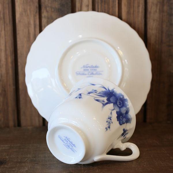 画像5: ノリタケ studio collection スタジオコレクション カップ&ソーサー 青い花柄 未使用品(を1717)
