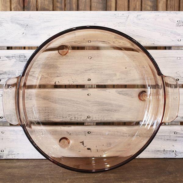 画像3: フランス VISION コーニング パイロセラム 脚付き卓上鍋 ガラス両手鍋 未使用品(も2006)