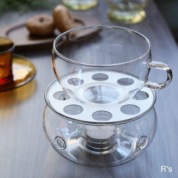 画像1: ドイツ JENAER GLASS イエナグラス ティーウォーマー キャンドルウォーマー 未使用品 箱付き(a4874)