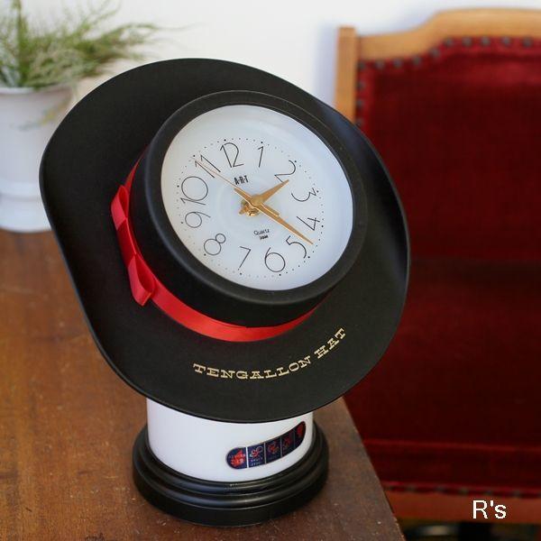 画像1: A・R・T テンガロンハット クロックライト 時計付き照明 展示品(店4935)