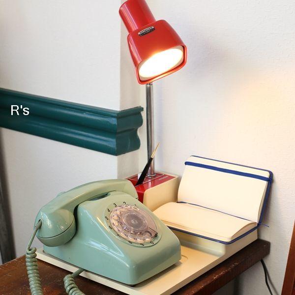 画像1: 日立 レトロ ライト付きテレホンスタンド 赤×白 ユーズド品(店5004)