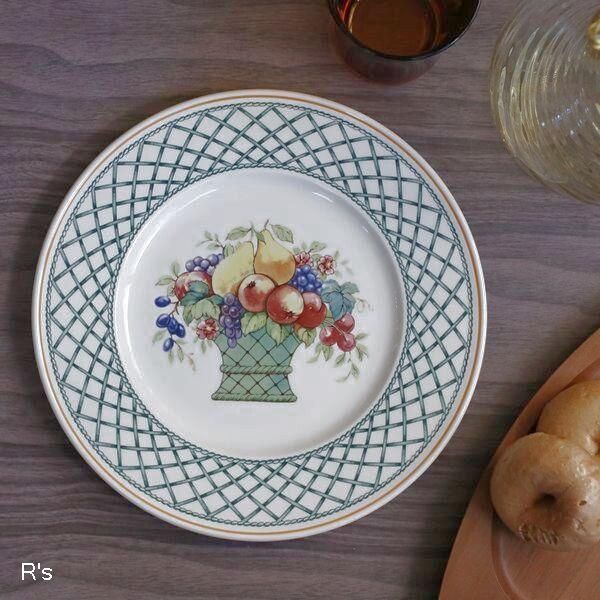 画像1: ドイツ ビレロイ&ボッホ 21cmプレート BASKET 花柄 未使用品(II5251)