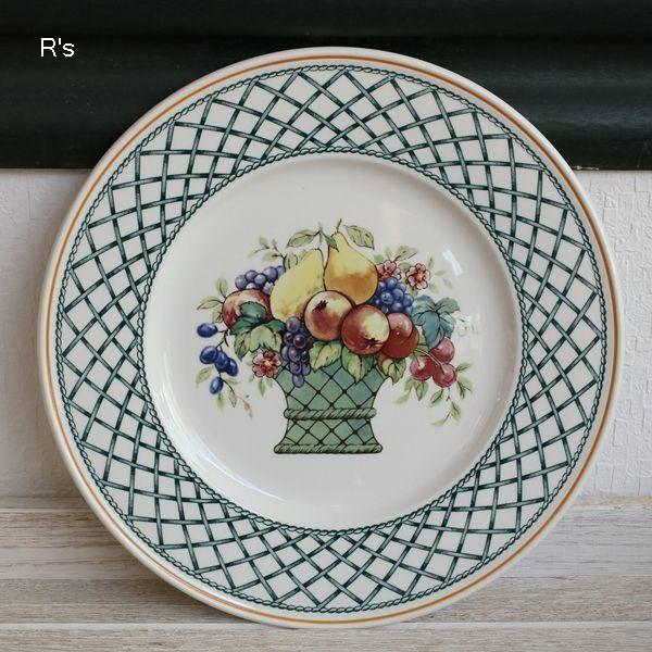 画像2: ドイツ ビレロイ&ボッホ 21cmプレート BASKET 花柄 未使用品(II5251)