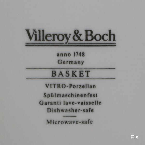 画像5: ドイツ ビレロイ&ボッホ 21cmプレート BASKET 花柄 未使用品(II5251)