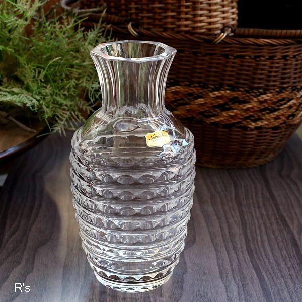 画像1: ノリタケクリスタル ガラスフラワーベース 未使用品 箱付き(MM5318)
