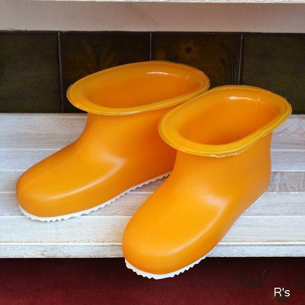 画像1: ミツギロン カレンナーブーツ レトロ バスシューズ オレンジ 未使用品 袋入り(店5338)